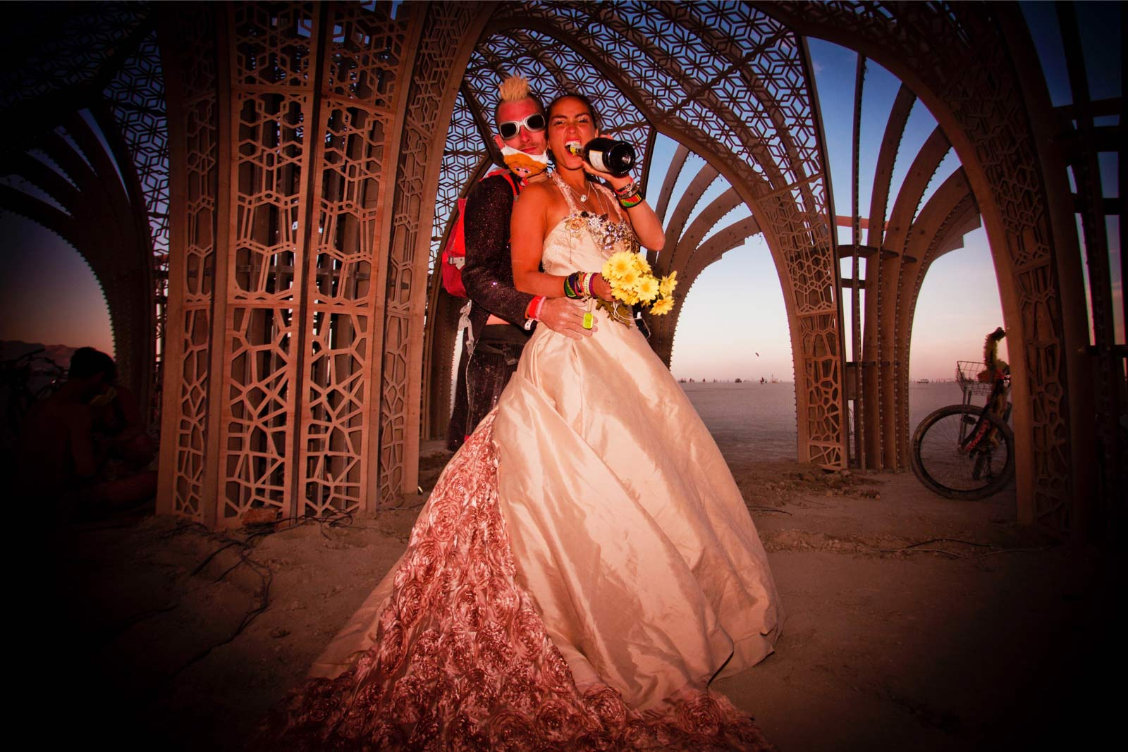 Burning-Man-2015-98;-Robin-Stephan's-Wedding-Sunset-Playa-Arbour